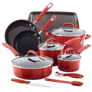 $73.49 + $15 Kohl's Cash Rachael Ray 14-pc. Nonstick Cookware set