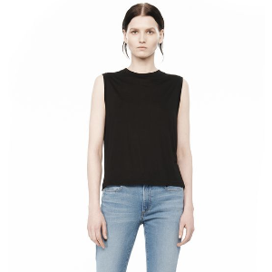 CLASSIC HIGH NECK FLARED TANK | TOP | Alexander Wang Official Site
