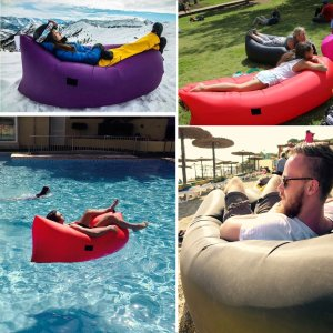 $39.99 Inflatable Couch Air Lounger Lightweight Portable Easy Inflatable Lounger