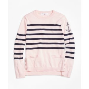 Supima® Cotton Stripe Sweater - Brooks Brothers