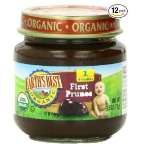 $4.24 + Free Shipping Earth's Best Organic Stage 1, Prunes, 2.5 Ounce Jar (Pack of 12)