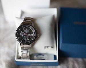 $82.44 Seiko Quartz Stainless Steel Dress Watch