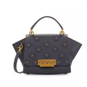 ZAC Zac Posen Eartha Floral Leather Shoulder Bag
