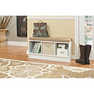 ClosetMaid 3-Cube Bench, White