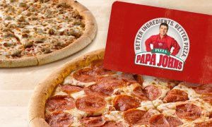 Two Free Large One-Topping Pizzas Buying $25 eGift Card at Papa John's