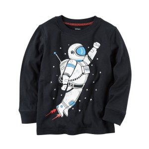 Baby Boy Long-Sleeve Astronaut Graphic Tee   Carters.com