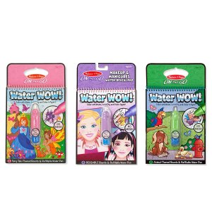 Amazon.com: Melissa & Doug On the Go Water Wow! Water Reveal Pads, Set of 3 - Makeup and Manicures, Fairy Tales, Animals: Toys & Games