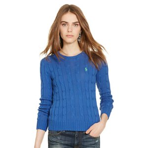 Slim Cable Crewneck Sweater - Scoop, Crew & Boatnecks � Sweaters - RalphLauren.com