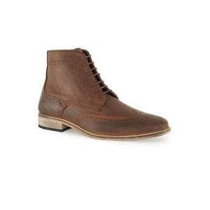 Tan Leather Brogue Boots - Men's Boots - Shoes and Accessories - TOPMAN USA