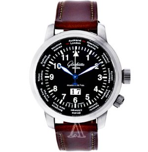 Dealmoon Exclusive! Glashutte Men's Senator Navigator Worldview Watch,  39-47-07-07-04