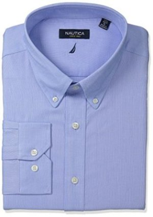 $19.99 Nautica Men's Solid Oxford Button-Down Dress Shirt