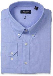 $19.99 Nautica Men's Solid Oxford Button-Down Dress Shirt
