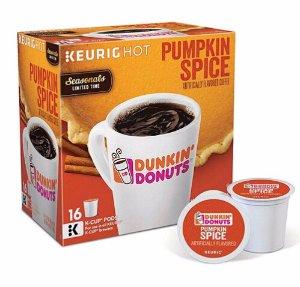 $25.147X Keurig Dunkin' Donuts Pumpkin Spice 16c