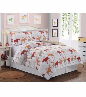Twin Size LivingQuarters Reversible Down-alternative Comforters @ Bon-Ton