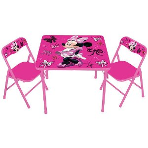 Character-themed activity table and chairs sets