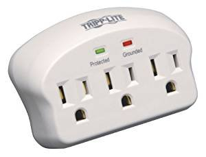 $5.84Tripp Lite 3 Outlet Portable Surge Protector/Suppressor, Wall Mount Direct Plug-in, & $5K INSURANCE (SK3-0)