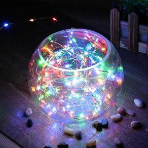 $3.59 SUPER BRIGHT String Lights 120 LEDs Solar Powered with Lithium Battery