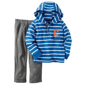 Baby Boy 2-Piece Hooded Top & French Terry Pant Set | Carters.com