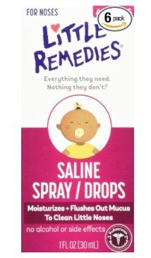 $10.16 Little Remedies Saline Spray/Drops for Dry for Stuffy Noses, 1-Ounce (30 ml) (Pack of 6)
