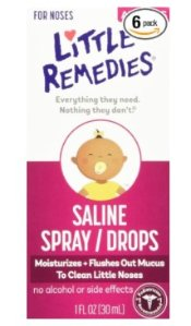 $14.40 + Free Shipping Little Remedies Saline Spray/Drops for Dry for Stuffy Noses, 1-Ounce (30 ml) (Pack of 6)