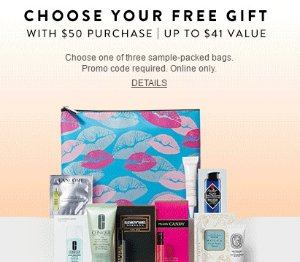 Choose one of three sample-packed bags With Your $50 Beauty & Fragrance Purchase @ Nordstrom