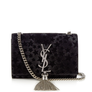 Kate small flocked-star calf-hair cross-body bag | Saint Laurent