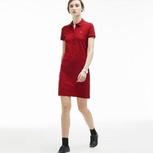 现价$76.99(原价$155)Lacoste 法国鳄鱼经典Polo裙(3色可选)