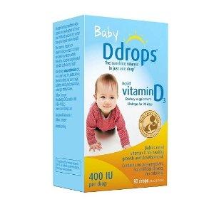 $12.74 Ddrops Baby Vitamin D3 400IU, 90 drops 2.5mL (0.08 fl.oz)