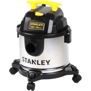 $20Stanley 4加仑不锈钢干湿两用吸尘器 SL18301-4B