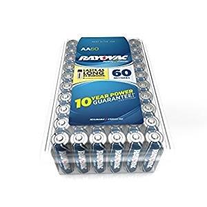 $8.97RAYOVAC AA 60-Pack HIGH ENERGY Premium Alkaline Batteries, 815-60PPF