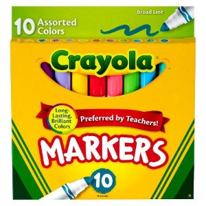 Crayola® Markers, Broad Line, 10ct - Assorted Multicolor