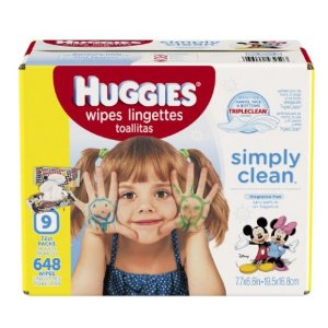 HUGGIES Simply Clean Unscented Soft Baby Wipes, 648 Count