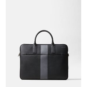 Striped Barrow Leather Portfolio Brief - JackSpade