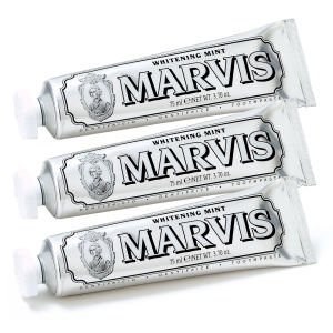 Marvis Whitening Mint Toothpaste Triple Pack (3 x 75ml) - FREE UK Delivery