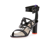 Sophia Webster Nereida Leather Tassel Sandal, Black