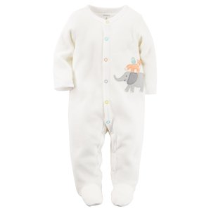Baby Neutral Terry Snap-Up Sleep & Play | Carters.com