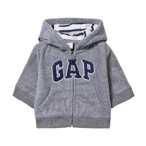Gap Kids Grey Heather Pro Fleece Hoodie | AlexandAlexa