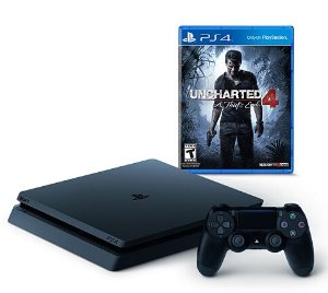 2016 Black Friday! $249+$75KC PlayStation 4 Slim 500GB Console Uncharted 4 Bundle
