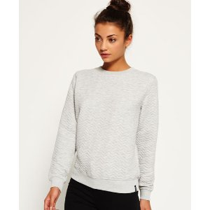 Superdry Quilted Nordic Crew Sweater - Women's Tops