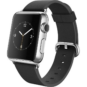 Apple Watch (first-generation) 38mm Stainless Steel Case - Black Classic Buckle Silver MJ312LL/A