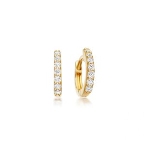 Mini Halo Hoop Earrings | 14ct Yellow Gold | Astley Clarke London