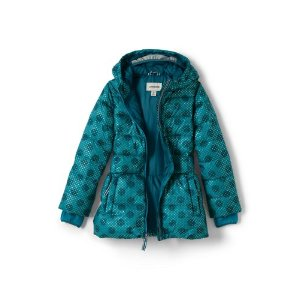 Girls Midweight Down Printed Parka from Lands' End