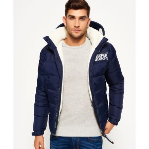 Superdry Mountain Mark Sherpa Coat - Men's Jackets