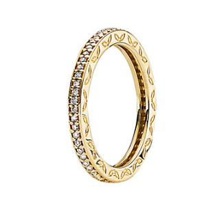 Rue La La — PANDORA 14K 0.22 ct. tw. Diamond Eternity Ring