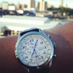 SEIKO Neo Classic Alarm Perpetual Chronograph Men's Watch