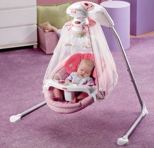$95.9 Fisher-Price Starlight Papasan Cradle Swing,Butterfly Garden