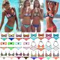 Ebuddy Fashion Colour Block Wet Suit Neoprene Bikini Swimsuit