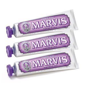Marvis Jasmine Mint Toothpaste Triple Pack (3 x 75ml) - FREE UK Delivery