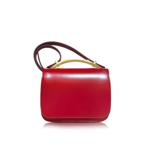 Marni Hot Red Leather Sculpture Bag at FORZIERI