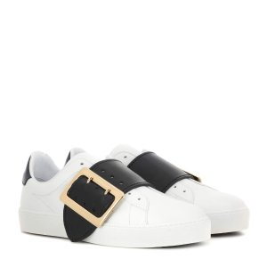 Burberry - Westford leather sneakers | mytheresa.com